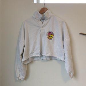 Brandy Melville Cropped Polo Sweatshirt